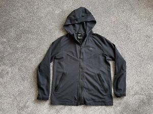 Mens Black Nike Zip Up Hoodie Size Medium