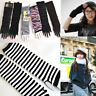 Women Cool Chic Cotton Protection Arm Warmer Long Fingerless Gloves Sleeves  New