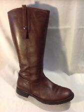 Geox Brown Mid Calf Leather Boots Size 38