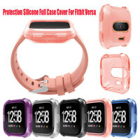 Silicone Transparent TPU Case Cover Protective Skin Shell for Fitbit Versa Watch