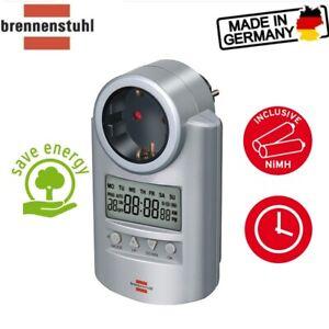 Brennenstuhl Zeitschaltuhr, digitale Timer-Steckdose Wochen-Zeitschaltuhr ✅⚡