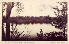 ST. JOHN RIVER JUST BELOW FREDRICTON (sp?) N.B. CANADA 1950 photo by Madge Smith