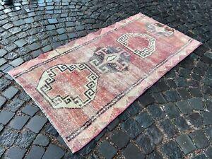 Wool rug, Handmade rug, Area rug, Vintage rug, Bohemian rug   2,9 x 5,5 ft