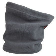 Winter Fleece Scarf Neck Warmer Face Mask Skiing Cycling Hiking Gray