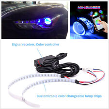 15-SMD RGB LED Demon Eye Projector Lens Car Headlight Retrofit Bluetooth Control