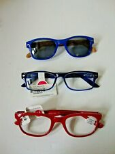 NWT 3 Peepers Reading 1.50 Glasses & Sunglasses Blue, Red & Brown Frames