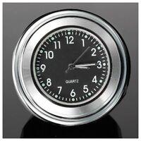 "7/8"" 1"" Universal Motorcycle Bike Handlebar Mount Dial Clock Waterproof S1V9 ZC"