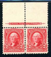 USAstamps Unused XF US Washington Imprint Pair Scott 301 OG MNH, MLH