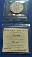 1861-A German States PRUSSIA Thaler Silver Coin ICCS EF-40