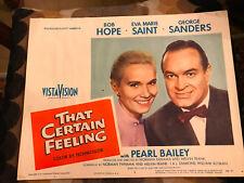 That Certain Feeling 1956 Paramount portrait comedy lobbycard Bob Hope Eve Marie
