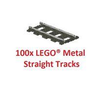 LEGO® 9V TRAIN 100x 4515 / 2865 Pieces Straight Metal Tracks Rails - TOP PRICE