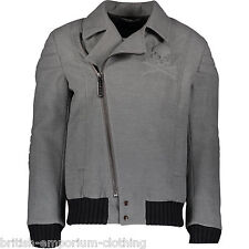 PHILIPP PLEIN Grey Wool Blend Quilted Jacket Coat BNWT Large