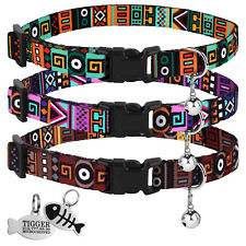 Breakaway Cat Collar Safety Kitten Collars with Bell & Id Tag Adjustable Size