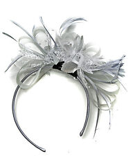 Customised Feather Hair Fascinator Headband Wedding Royal Ascot Races Bespoke