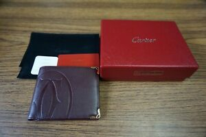 Cartier Wallet Burgundy box and dustbag