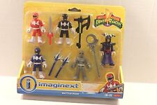 Fisher-Price Imaginext Power Rangers Battle Back 5 Figures & Weapons Ages 3-8