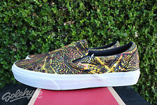 VANS CALIFORNIA SLIP ON SZ 10.5 MIRROR IMAGE YELLOW BLACK GREEN VN 0IL5FI6