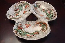 TF&S Hand decorated thee part dish, Thomas Forester & Sons Phoenix Ware[*86]