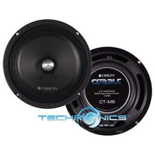 "ORION CT-M6 6.5"" HIGH EFFICIENCY MIDRANGE SPEAKERS  600 WATTS MAX 4 OHM"