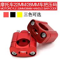 22mm/28mm CNC Aluminum Motorcycle Handlebar Bar Riser Mount Clamp Adaptor