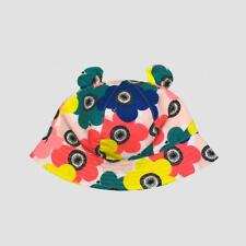 Toddler Girls' Flower Print Bucket Hat Cat & Jack 2T-5T Multi-Colored New