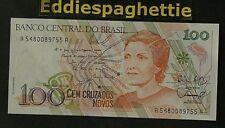 Brazil 100 Cruz 1989  Sign26 UNC P-220a