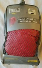Everlast Sm Laceless Boxing Training Gloves Level I Model 3003 Red---Excel Cond!