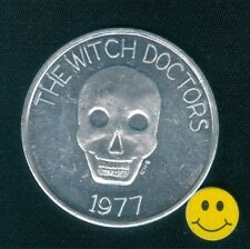 The WITCH DOCTOR - SKULL - New Orleans Mardi Gras Doubloon Token 1977