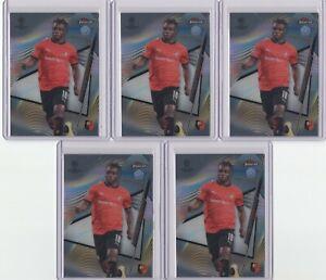 2020-21 TOPPS FINEST UCL JEREMY DOKU ROOKIE BASE CARD 5 LOT RC #40 [SY]