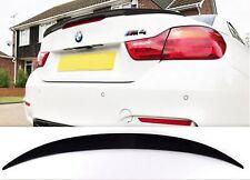 BMW F33 F83 GLOSS BLACK CONVERTIBLE ABS SPOILER 3 SERIES BOOT TRUNK M4 REAR LIP