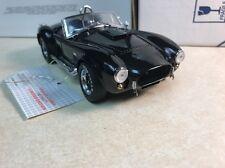 1/24 Franklin Mint Black 1966 Shelby Cobra 427 SC B11B822 Serial # 669 of 1500