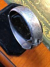 vintage solid silver Ladies Large Bangle-bracelet