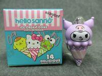 Kidrobot Bite Sized Labbit Vinyl Keychain Series Rocky Road Ice Cream NEW