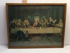 VINTAGE LAST SUPPER PRINT BY BRUNOZETTI BIBLE STORY OF JESUS