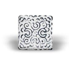 Möbelknopf Eisen orientalisch weiß (quadratisch)