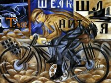 The Cyclist Painting by Natalia Sergeevna Goncharova Art Reproduction