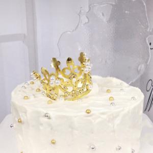 "Cake Topper - Princess little crown (~2.5"" diameter) (Gold)"