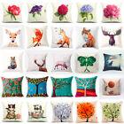Fashion Home Decor Cotton Linen Throw Pillow Case Fox Sofa Waist Cushion Cover