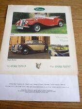 Vintage Motor Company Kit Car 'folleto de ventas/Hoja' más los precios finales años 90?