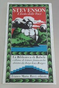 L'Isola delle Voci - Stevenson - La Biblioteca di Babele 15 - Franco Maria Ricci