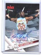WWE Kofi Kingston 2017 Topps Silver Authentic Autograph Card SN 7 of 25