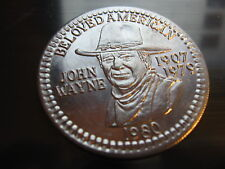 john wayne the duke 1980 actor Mardi Gras Doubloon Coin new orleans vintage