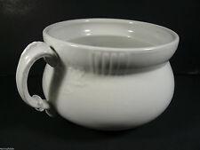 Antique 1880's John Edwards Fenton Porcelain Chamber Pot Leaf Design - England