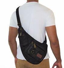 Biker's Canvas Sling Bag Raider  Fanny Pack Hiking Expandable Backpack JTC