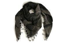 "Hirbawi Scarf Shemagh Gray Black  Keffiyeh  47""x47"" Original Brand New Cotton"