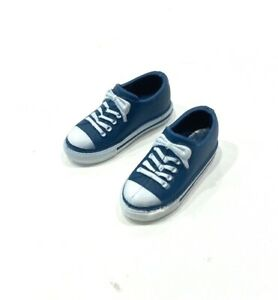 PKP-SH-BL: 1/12 scale blue sneakers for Mix Max, TBLeague bodies with bare feet
