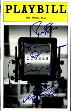 CLOSER Playbill Signed In-person by The Cast