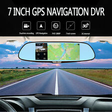 "7"" 1080P HD Rearview Mirror Android 5.0 GPS Navigation Bluetooth WIFI 3G Car DVR"