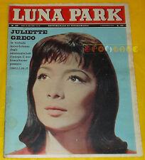 LUNA PARK 1962 n. 40 Juliette Greco, Lelio Luttazzi, Giacomo Rondinella
