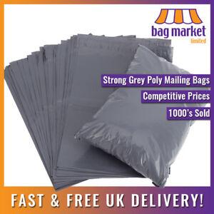 Strong Premium Grey Mailing Bags   Low Slip / Matt Finish / Postal / Postage